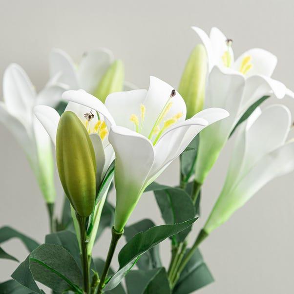 Artificial Easter Lily White Single Spray 76cm White