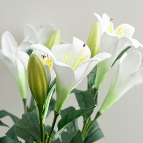 Artificial Easter Lily White Single Spray 76cm