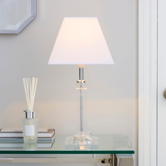Square Clear Table Lamp Clear