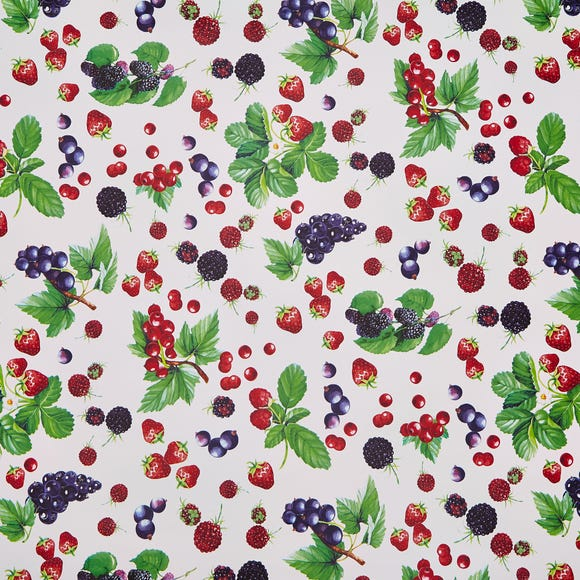 Strawberries Red PVC MultiColoured