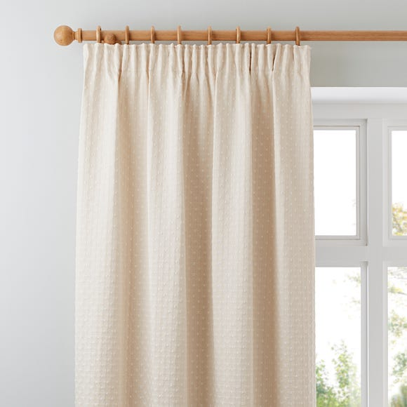 Omega Natural Pencil Pleat Curtains Natural undefined