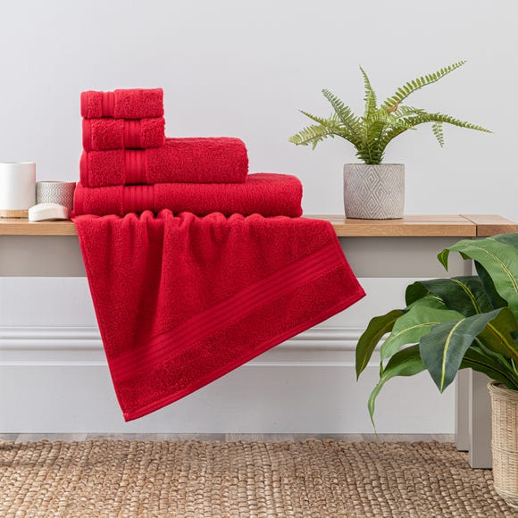 Red Egyptian Cotton Towel Red undefined