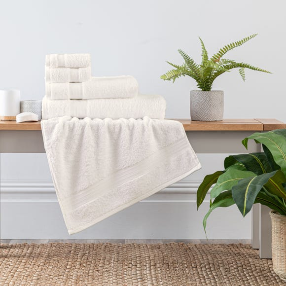 Cream Egyptian Cotton Towel  undefined
