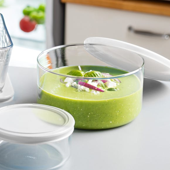 Pyrex Medium Round Dish with Lid Clear