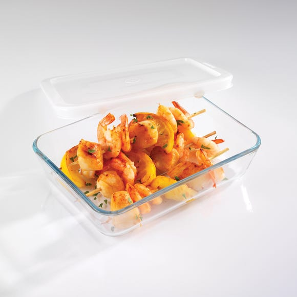 Pyrex Medium Rectangular Dish with Lid Clear