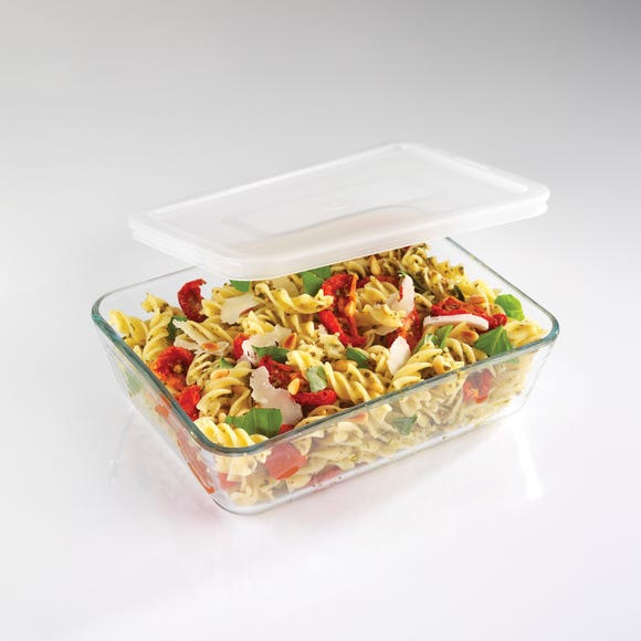 Pyrex Large Rectangular Dish with Lid Clear