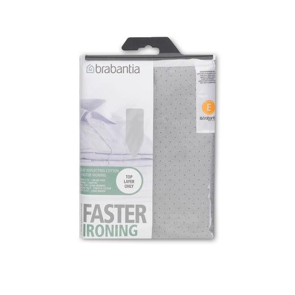 Brabantia Foam Back Silver Metalised Ironing Board Cover Silver