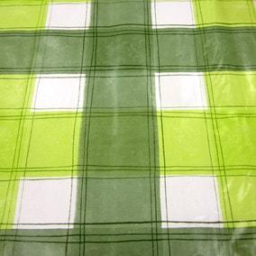 Green Wavy Check PVC