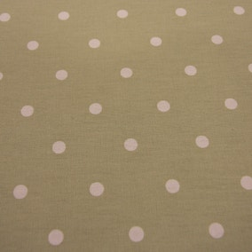 Dotty Fabric Sage Cotton Fabric