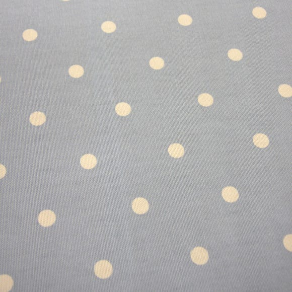 Dotty Fabric Sage Cotton Fabric Blue