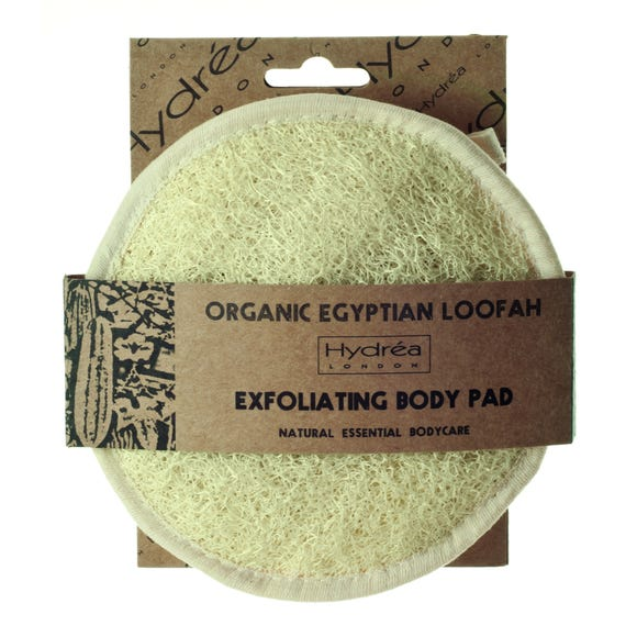 Hydrea Organic Egyptian Loofah Exfoliating Body Pad Natural (Cream)