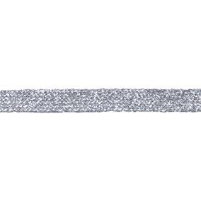Silver Metallic Braid Trim 11mm