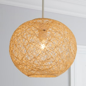 Abaca Ball 27cm Natural Easy Fit Pendant