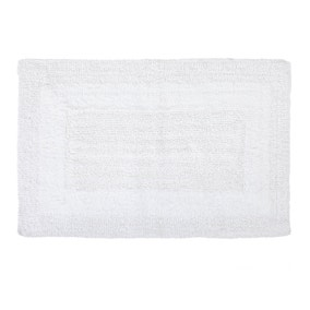 Super Soft Reversible White Bath Mat