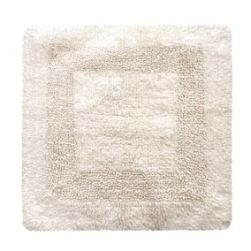 Super Soft Reversible Cream Square Bath Mat