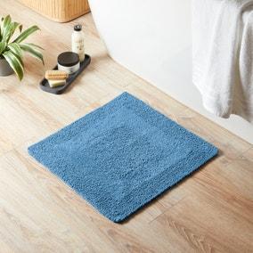 Super Soft Reversible Cornflower Square Bath Mat