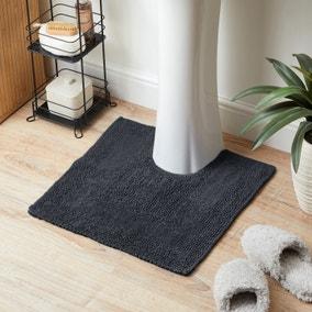 Super Soft Reversible Charcoal Pedestal Mat