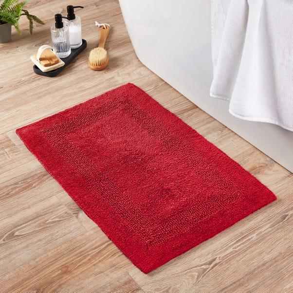 Super Soft Reversible Red Bath Mat