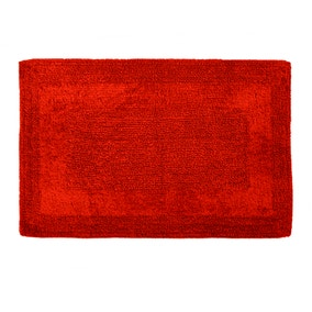 Super Soft Reversible Red Bath Mat