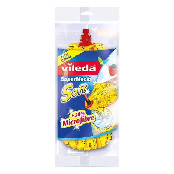 Vileda SuperMocio Soft Mop Head Refill Yellow