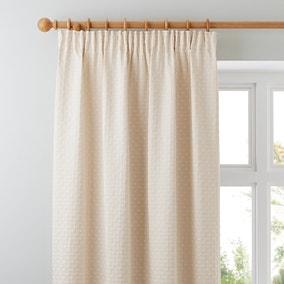 Omega Natural Pencil Pleat Curtains