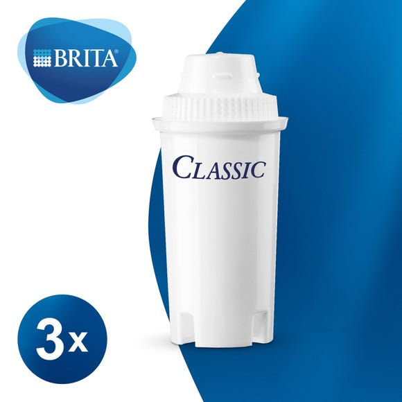 Brita Classic 3 Pack of Filter Cartridges White