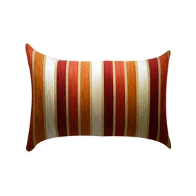 Large Veluto Terracotta Striped Cushion