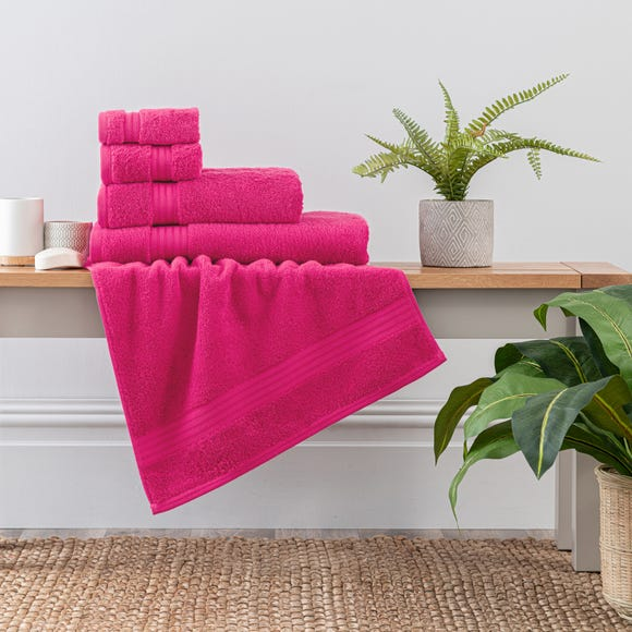 Fuchsia Egyptian Cotton Towel Fuchsia (Pink) undefined
