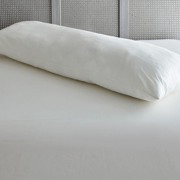 Small Firm-Support Body Pillow White