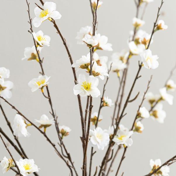 Artificial Blossom Flower Cream Single Spray 120cm Cream