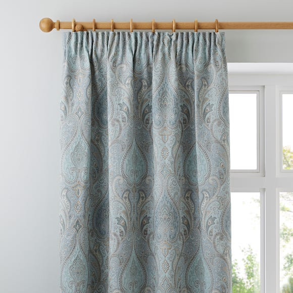 Novello Duck-Egg Pencil Pleat Curtains  undefined