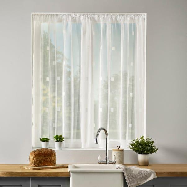 Zen Lace Net Slot Top Curtain Fabric  undefined