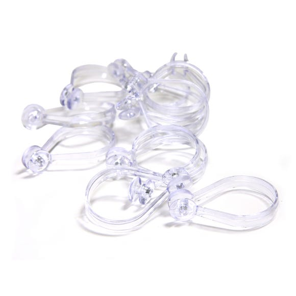 Shower Curtain Button Hooks Clear