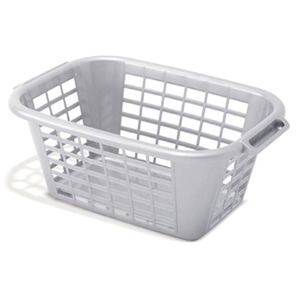 Addis Laundry Basket Metallic Grey