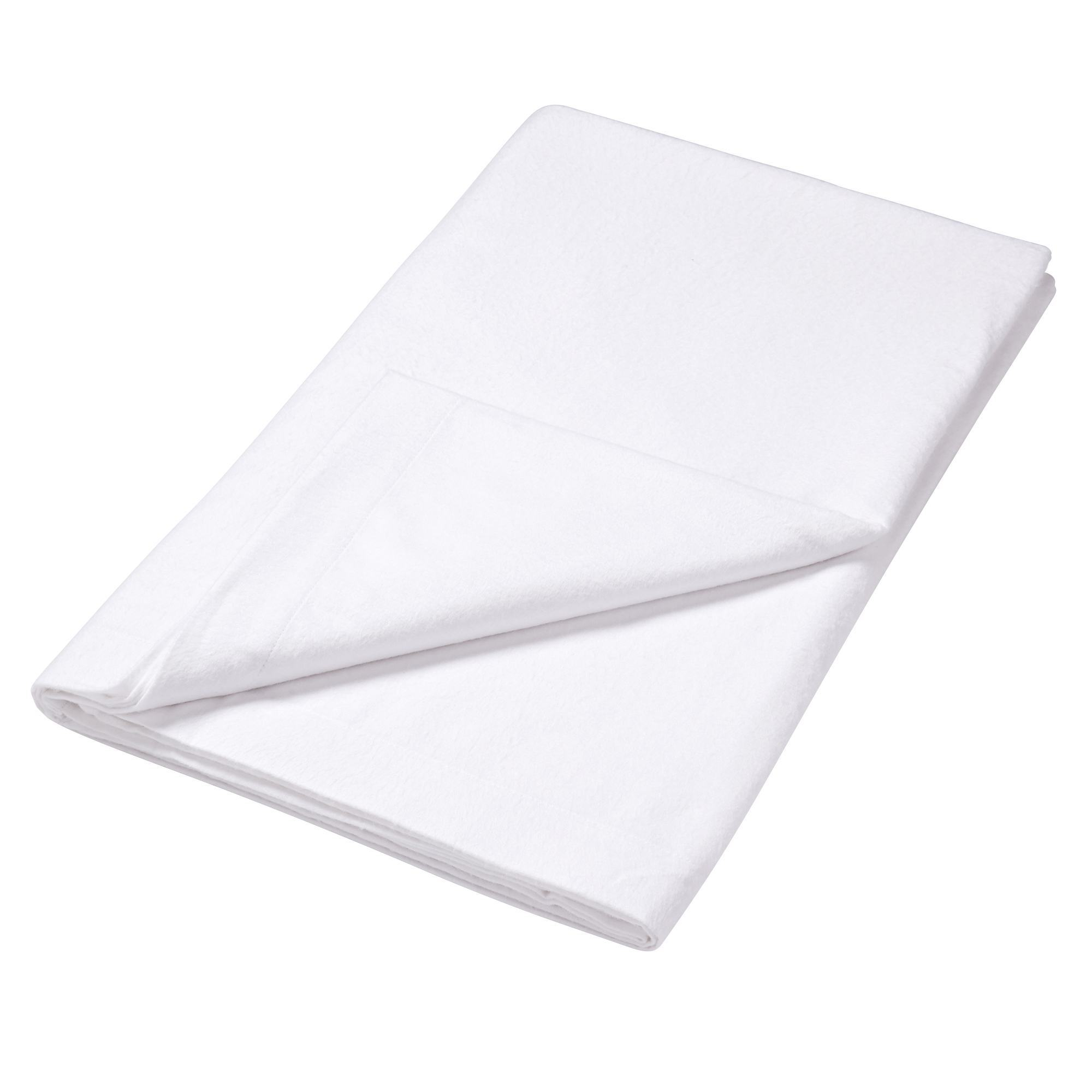 Photo of Luxury brushed cotton flat sheet white