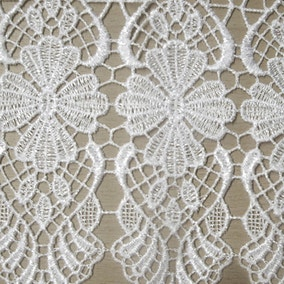 Macrame Cafe Net Tab Top Curtain Fabric