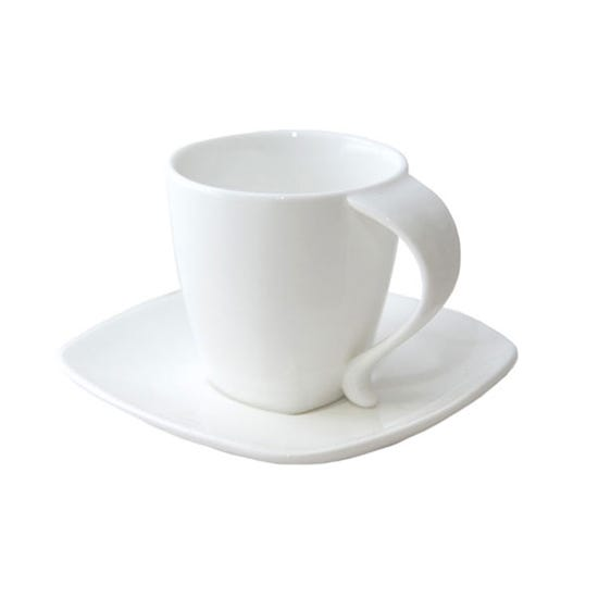 Pausa Cup & Saucer White