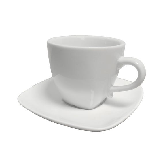 Pausa Espresso Cup and Saucer White
