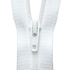 White Nylon Zip