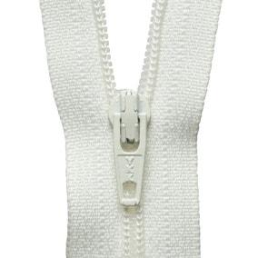 Cream Nylon Zip