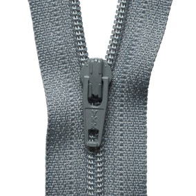 Grey Nylon Zip