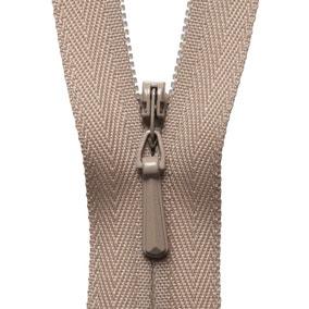 Beige Concealed Zip