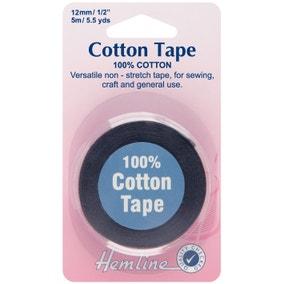 Hemline Black Cotton Tape 5m