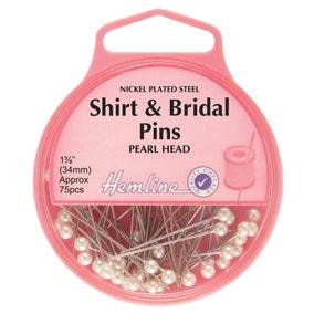 Hemline Shirt And Bridal Pins