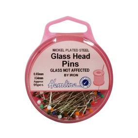 Hemline Glass Headed Pins