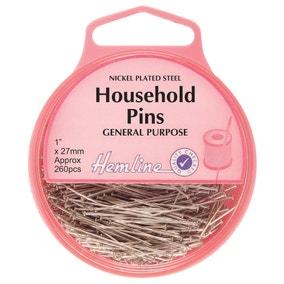Hemline Household Pins 27mm