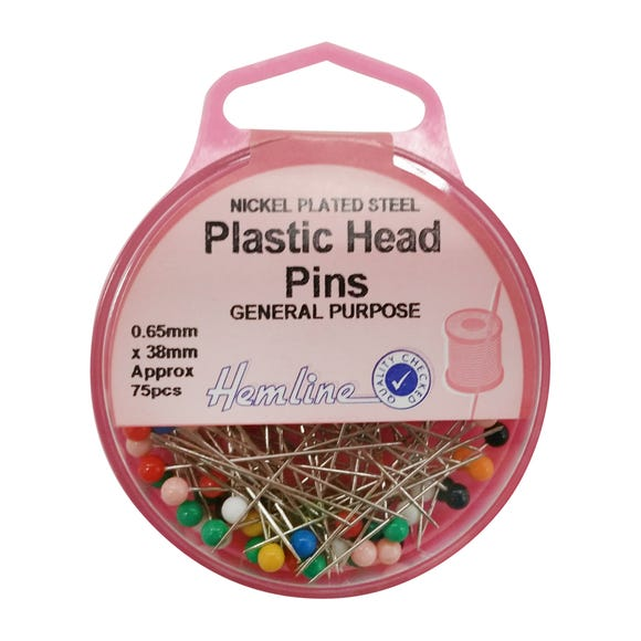 Hemline Plastic Head 38mm Pins