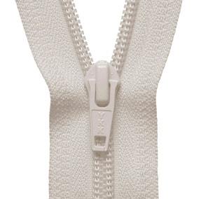 Cream Open End Zip