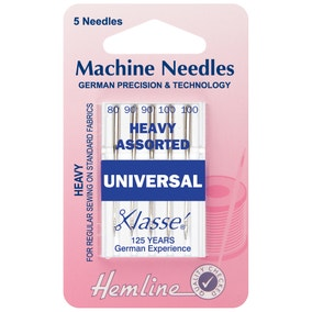 Hemline Universal Heavy Assorted Sewing Machine Needles