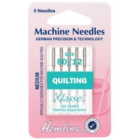 Hemline Medium Quilting Sewing Machine Needles